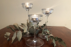 3 glass candle holder