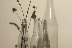 4 different sizes clear bottles