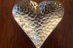 Small silver heart plate